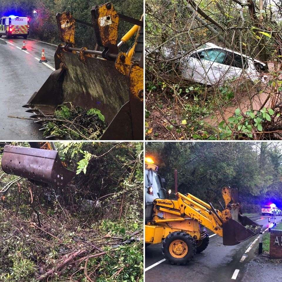 Images of the Lambley crash. Picture credit: Gedling Police. (20302478)