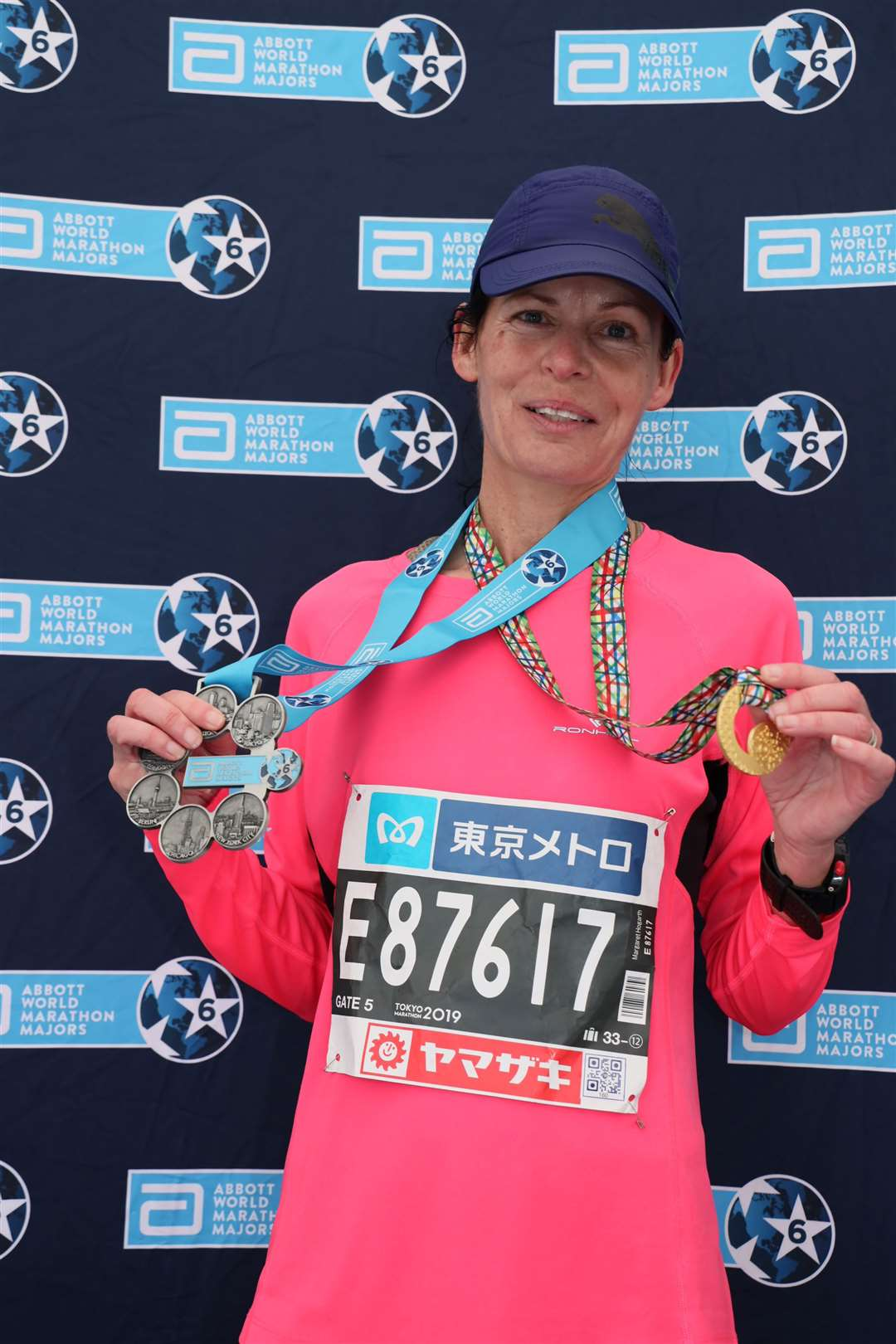Margaret was given her six star medal and Tokyo Finisher medal.