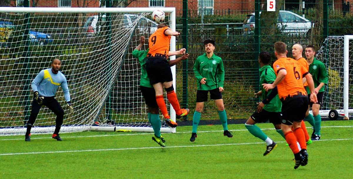 Elliott King's header that was tipped away by the Cavaliers' keeper