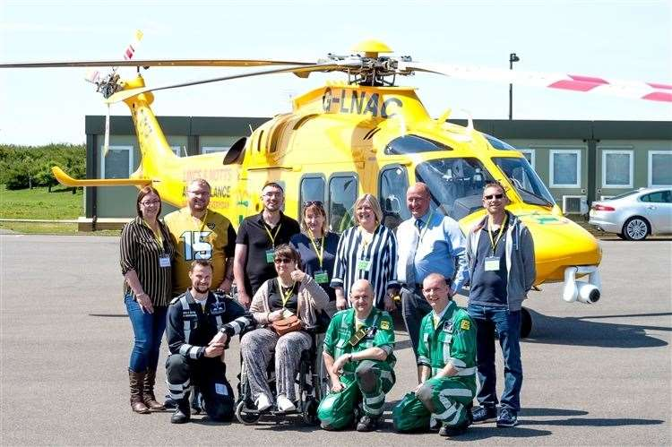 Former patients who were helped by Lincolnshire and Nottinghamshire Air Ambulance. (10258001)