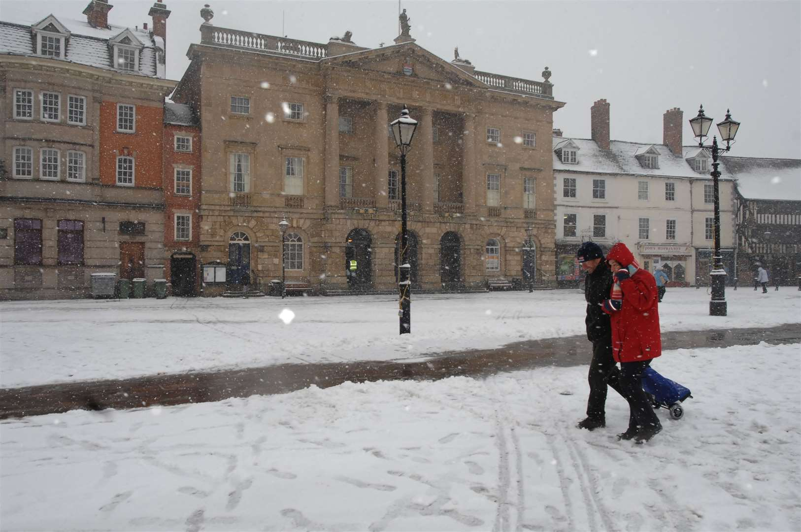 Weather pic. Snow in the Market Place.. (6801431)