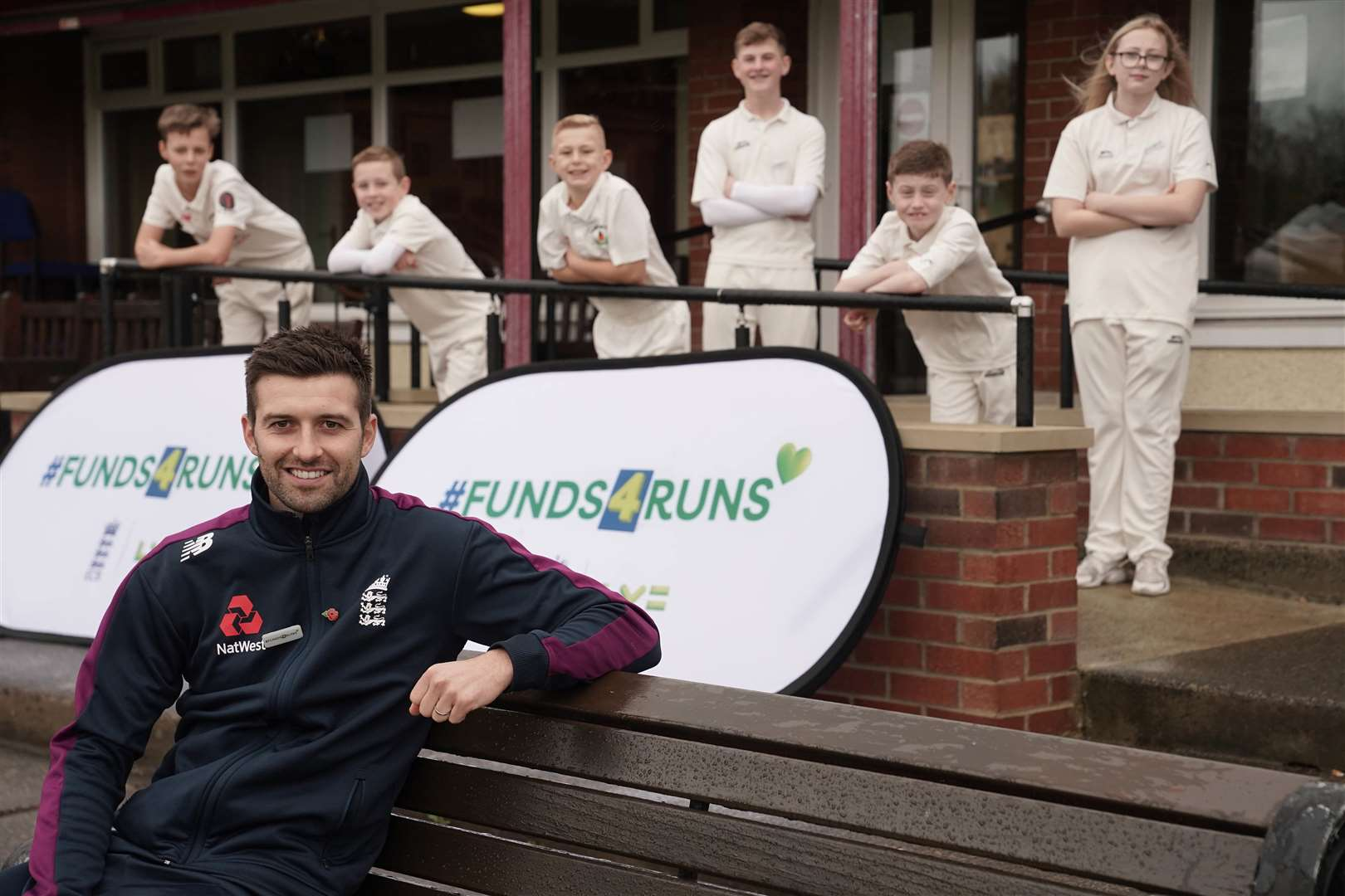 ENGLAND'S Mark Wood meets young cricketers at his home club, Ashington CC, ahead of the launch of #Funds4Runs, which is a £1m investment jointly funded by England and Wales Cricket Board.