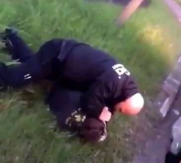 Footage from the video shows Shane Price being attacked by a Lincolnshire police officer.  (47672865)