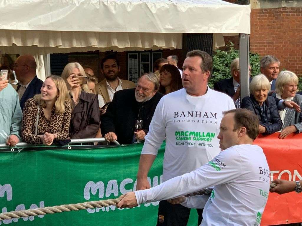 Mark Spencer taking part in the Commons tug of war. (12088404)