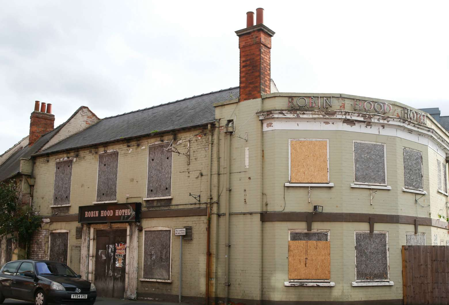 The former Robin Hood Hotel, Newark