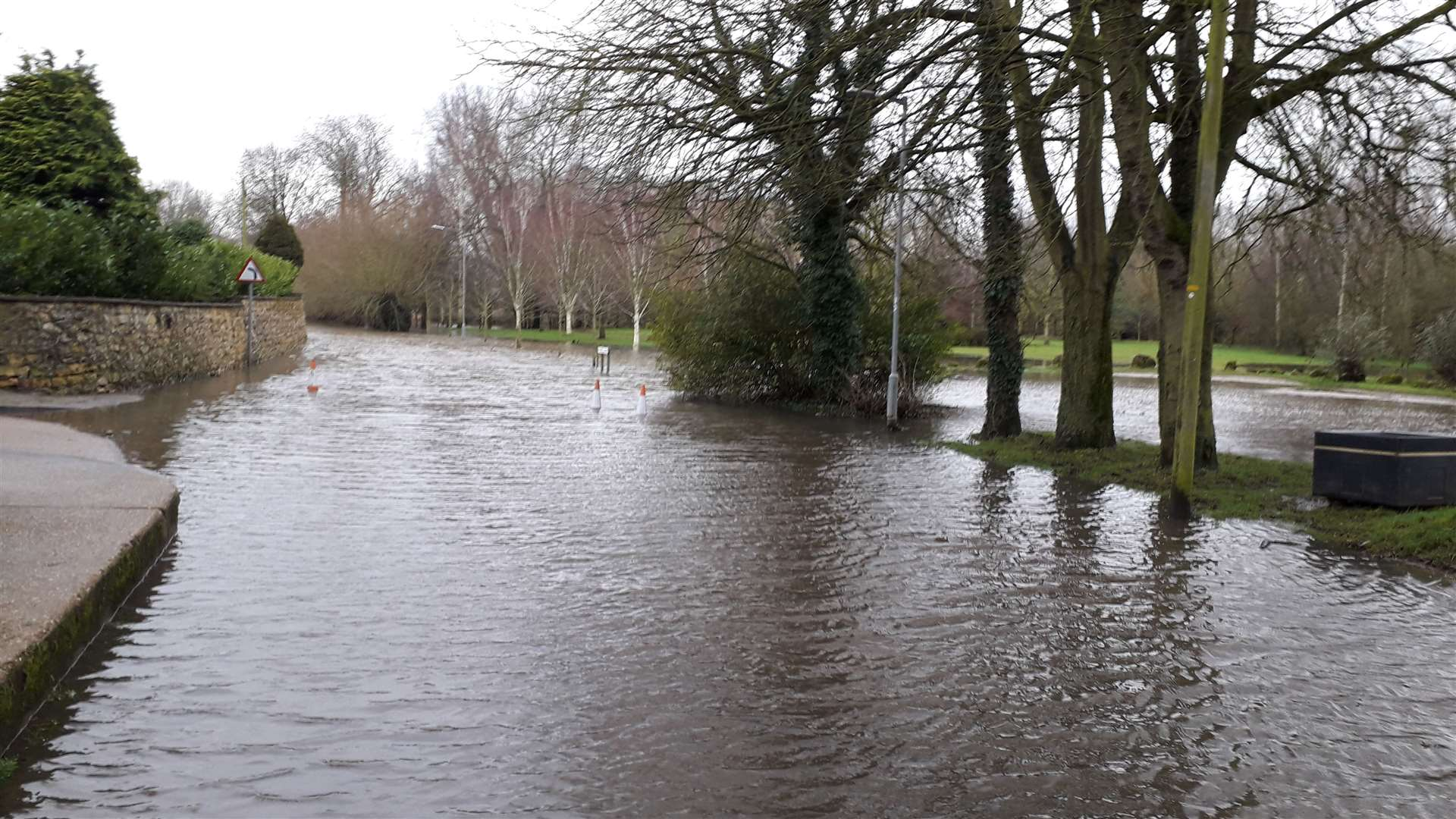 Flooded Wyke Lane, Farndon. Picture: Phil Rogers (44050943)