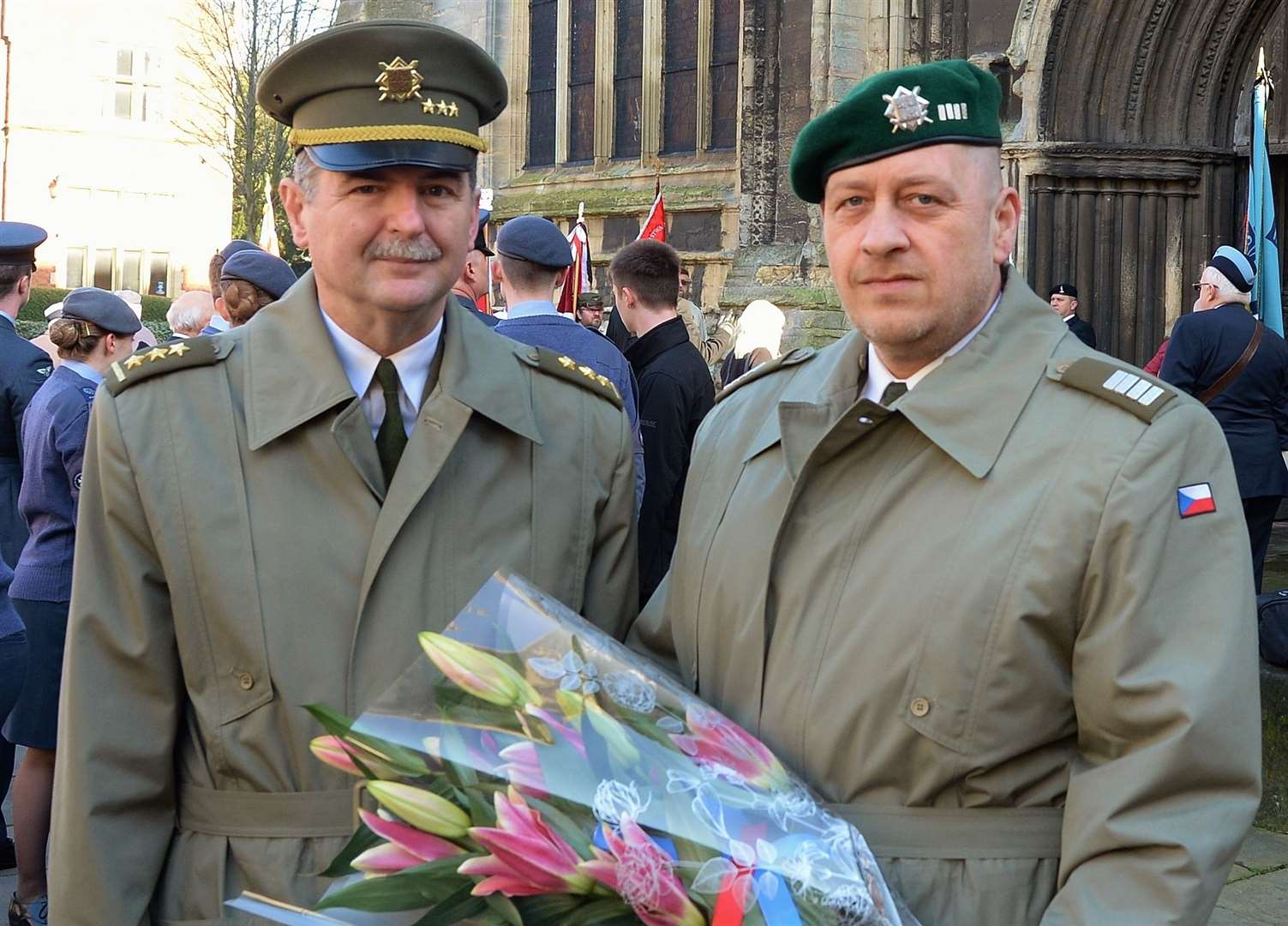 Colonel Jiri Niedoba, Czech Republic Defence Attache and his aide, Chief Warrant Officer Tomas Kaspar. (28526885)
