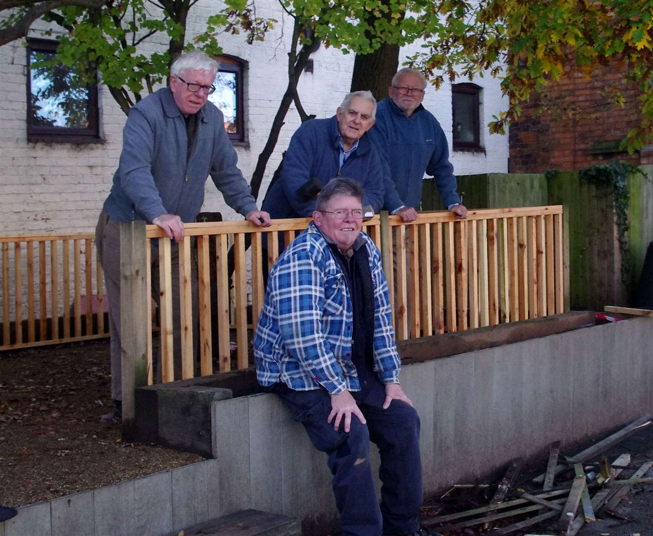 COLLINGHAM'S Men in Sheds team, from left to right, is Richard Challand, Dennis Pratt, Dez Williams and Jim Milner (seated).