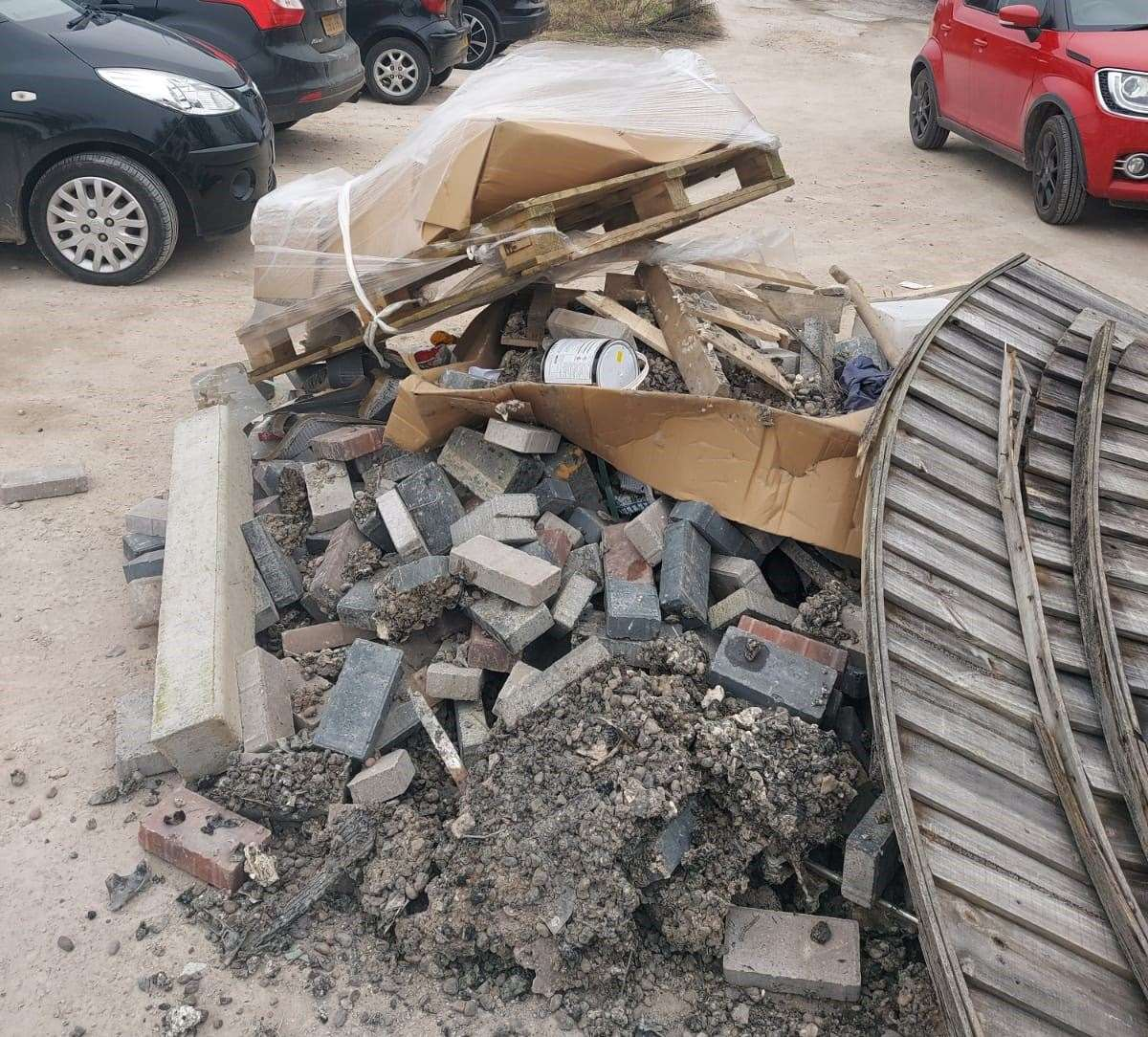 The massive three-tonne fly-tip discovered at a popular walking spot. (44432198)