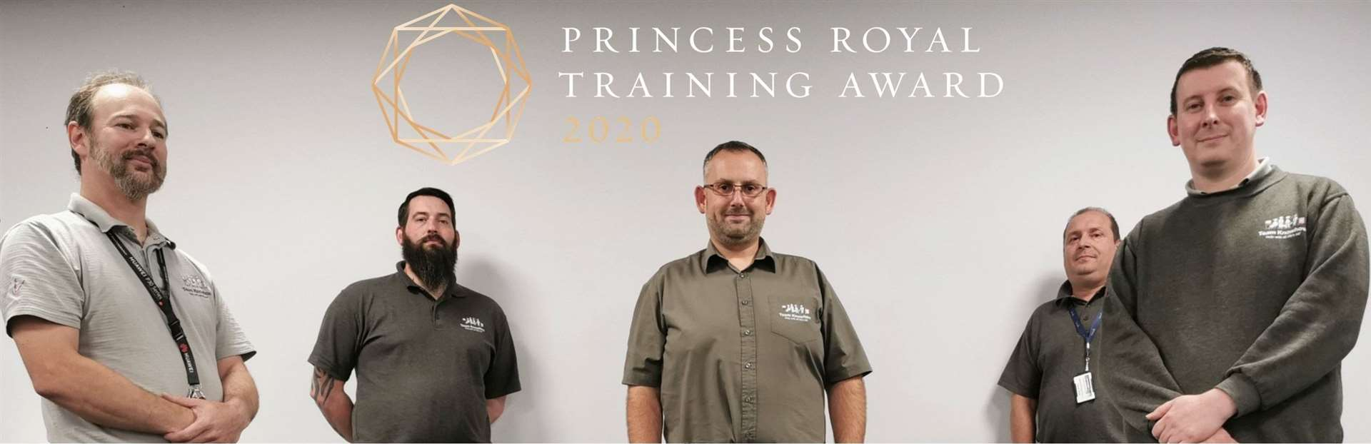 The award-winning Team Knowhow includes, left to right (back) Rikki Kissane and Darran West (middle) Anthony Overton (front) Chris Lucas and Martyn Cuthbert.
