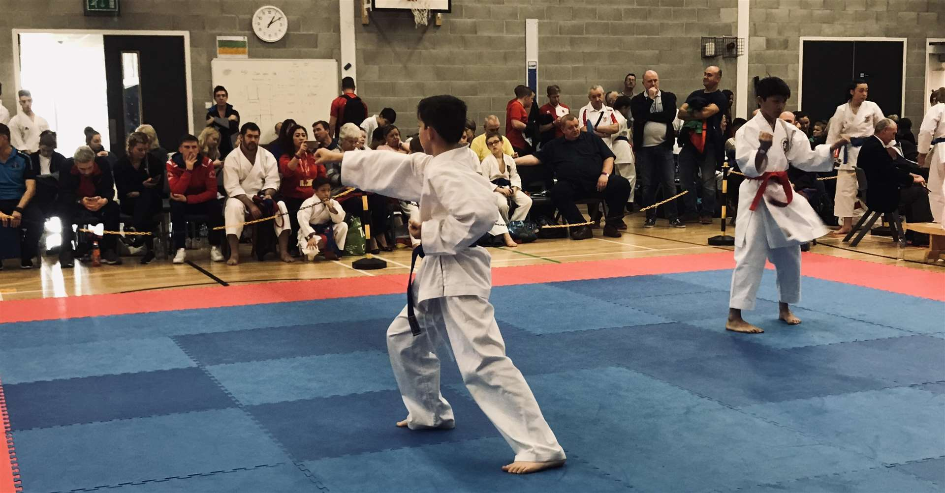 Damon Hewitt in Shito-ryu kata action against his opponent (6285028)