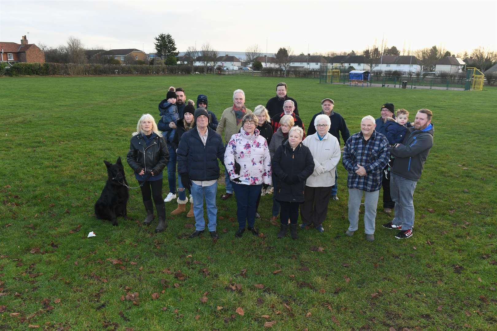 Residents unhappy that Cedar Avenue Playing Field has been sold and is part of planning permission.