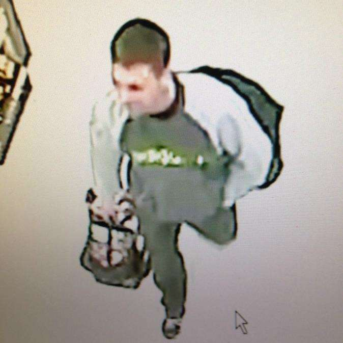 Police want to speak to this man about a theft at the Co-op store in Ropewalk, Southwell