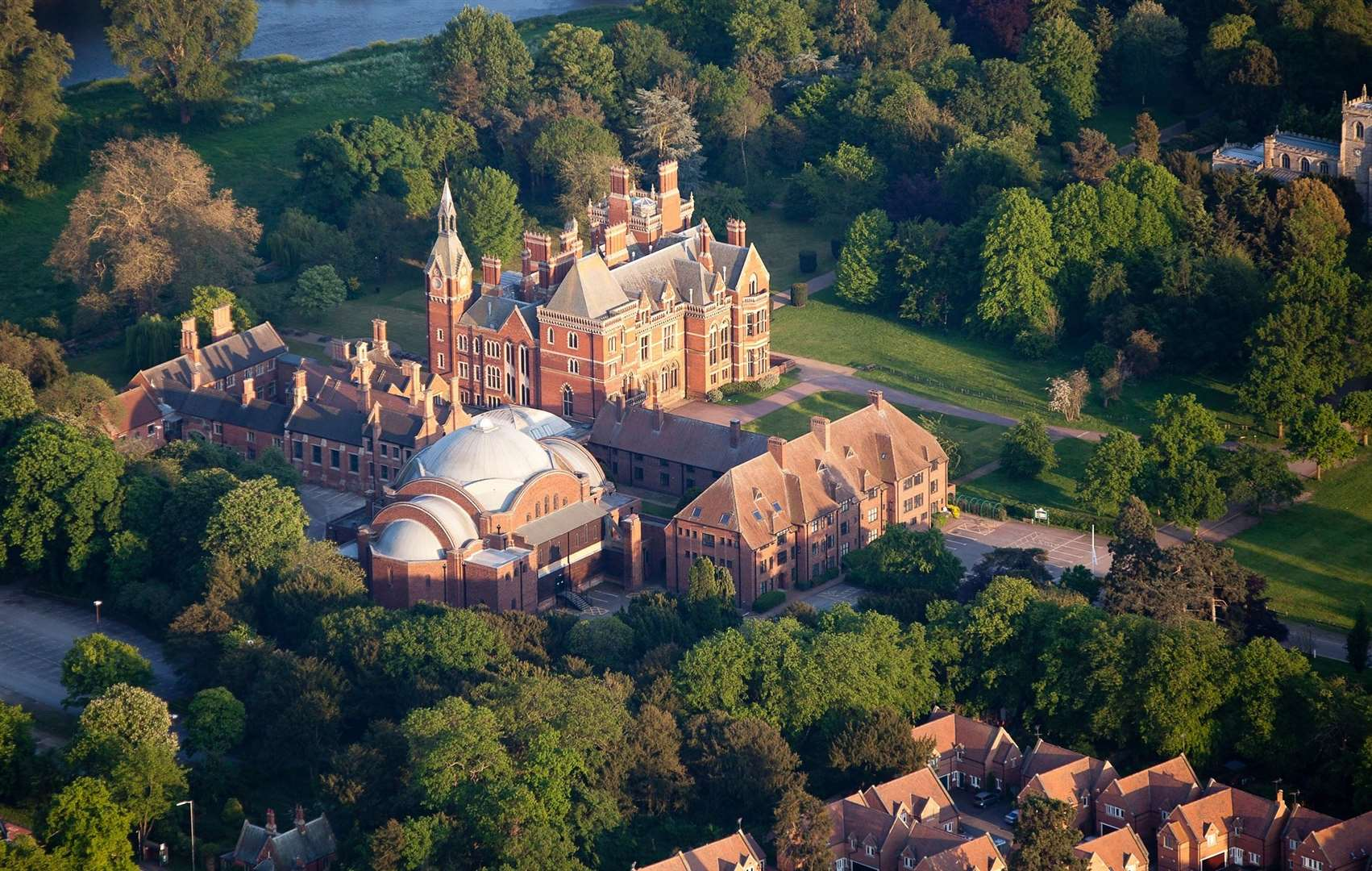 An aerial view of Kelham Hall