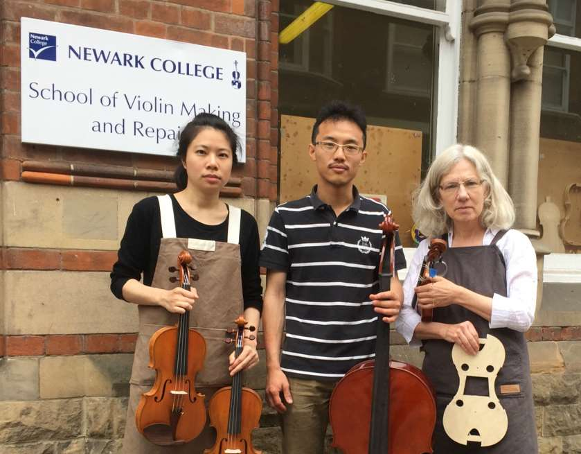 Lingtzu Chen, left, with Hsu-yen Chang and Ruth Robertson, both third year students on the course, who supported the appeal for the international students to remain
