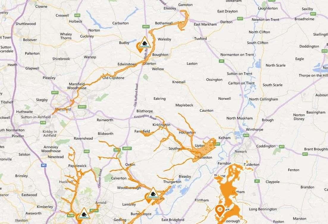 Flooding risk in Nottinghamshire (12155341)