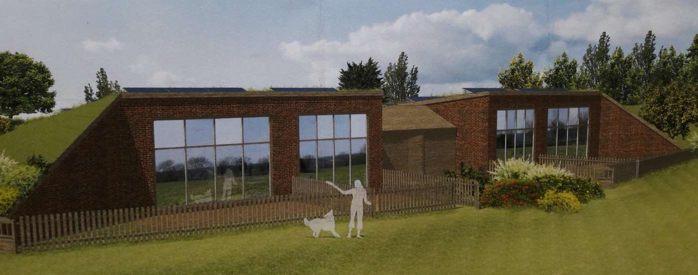 An artist's impression of the type of eco home approved for open countryside near Eakring. Newark and Sherwood District Council will seek a judicial review into a planning inspector's decision to approve plans for the homes
